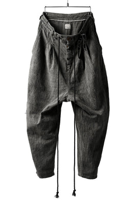 daska x LOOM exclucive wide tapered pants / hand stitch detail (sumi dyed)