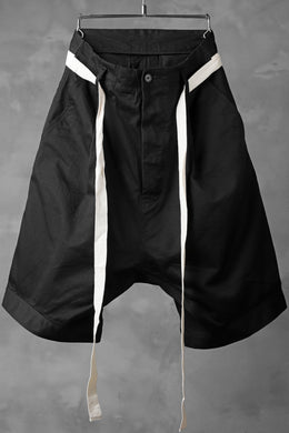 KLASICA GERALD-cc LOW CROTCH SHORTS / DRY CHINO CLOTH (BLACK)