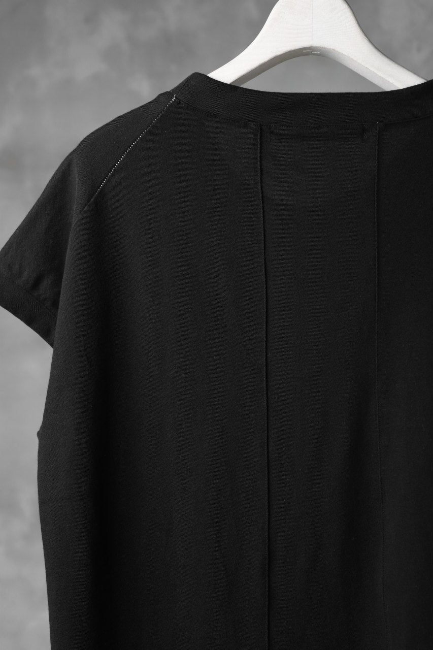 KLASICA LUNG CAP SLEEVE LONG  CUT & SEWN / DRY TWILL JERSEY (BLACK)