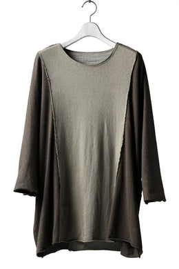 daska reversible dolman oversized tops without pocket / sumi dyed (BROWN-GREIGE)