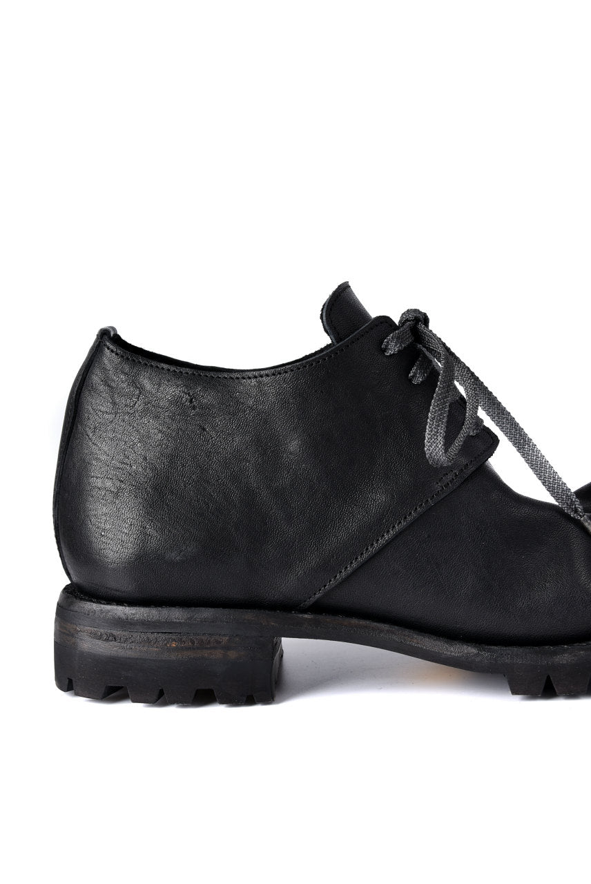 Portaille exclusive Derby Shoes / Heated Shrink Horse Leather / Vibram #100 (BLACK)