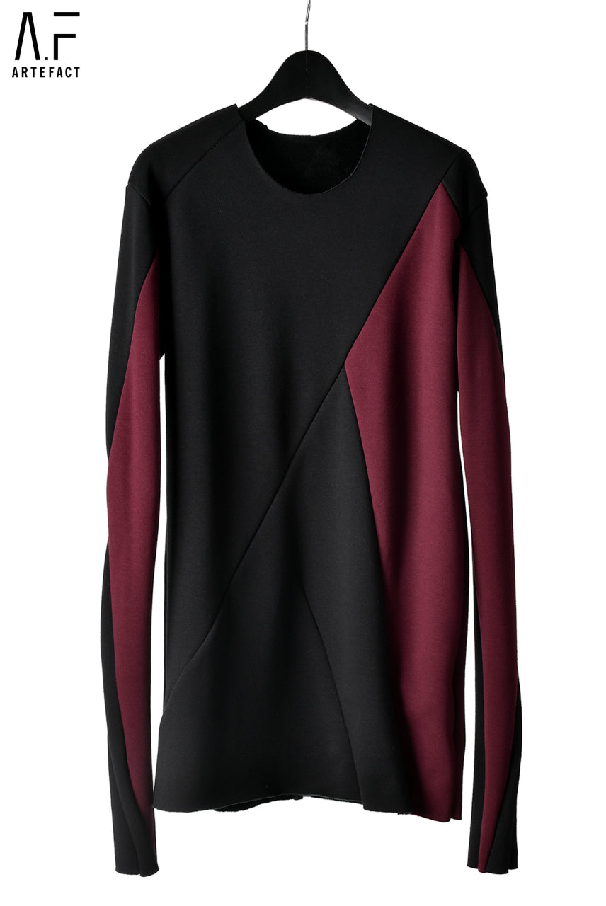 A.F ARTEFACT exclusive BomberHEAT® SWITCHING TOPS (BLACK×BORDEAUX)