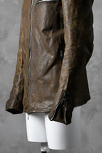 画像をギャラリービューアに読み込む, incarnation HORSE LEATHER COLLARED ZIP JACKET / OVERLOCKED (BROWN)