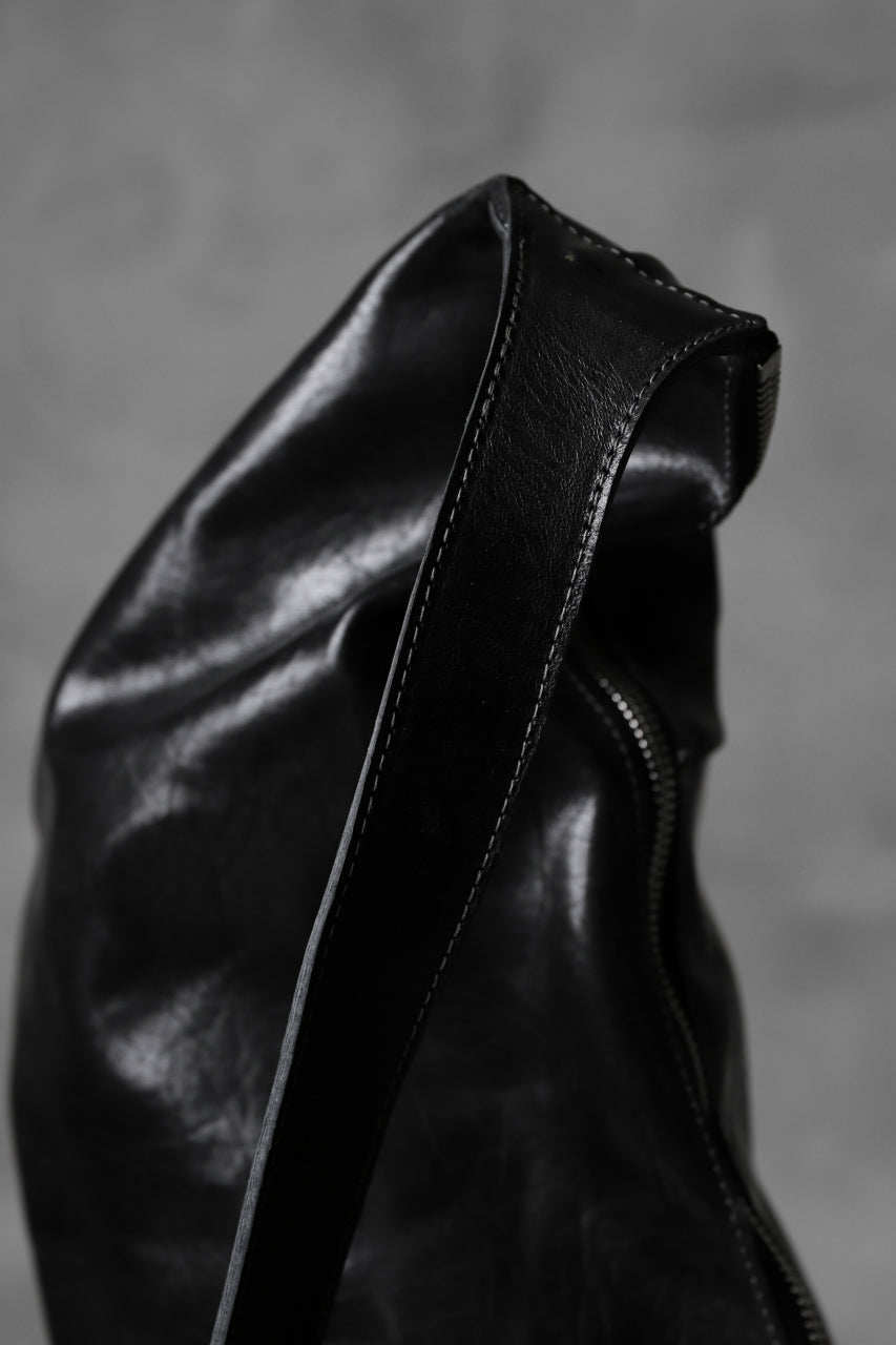 画像をギャラリービューアに読み込む, incarnation HORSE BUTT LEATHER 2WAY SHOULDER BAG / SHINY WAXED (BLACK)