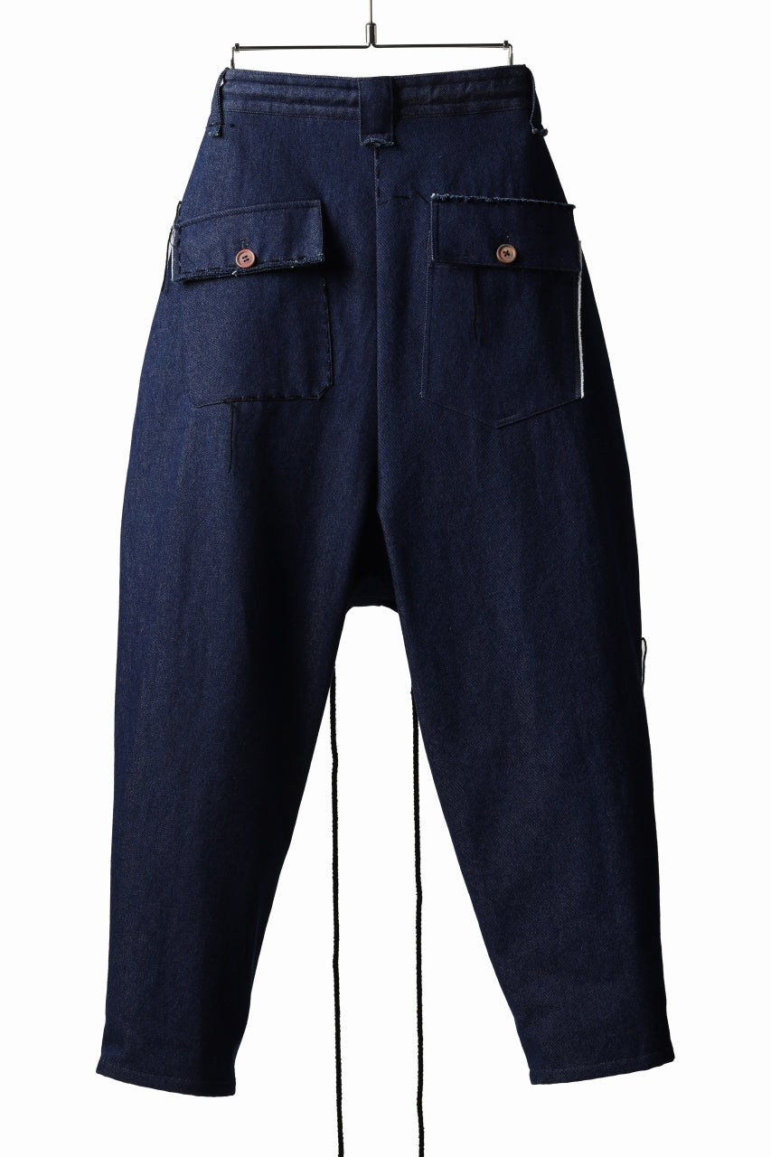 daska x LOOM exclucive wide tapered pants / organic denim washer (INDIGO)
