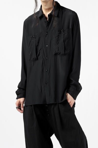 KLASICA exclusive SH-035 POCKET SHIRT / FUJI ETTE (BLACK)