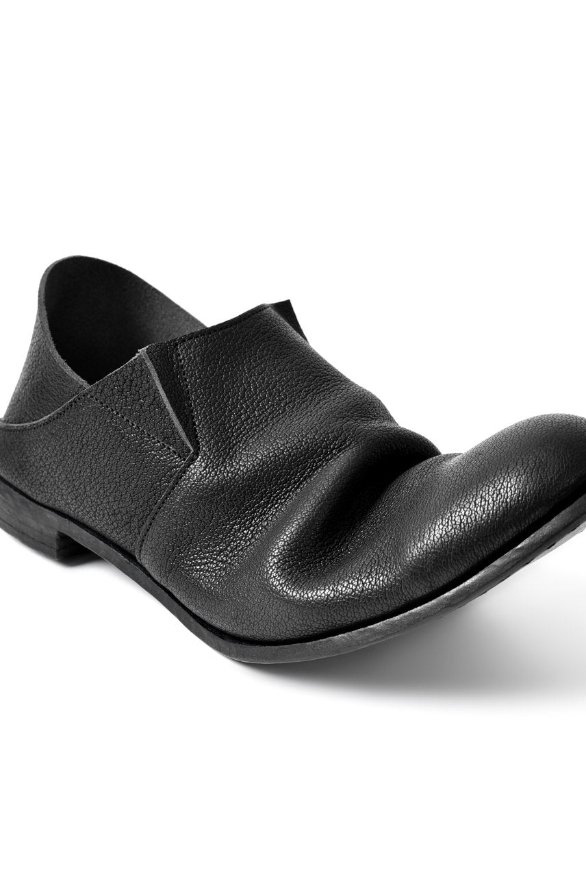 "prtl x 4R4s exclusive 2way slip-on / Aniline buffalo ""5-00M"" (BLACK)"
