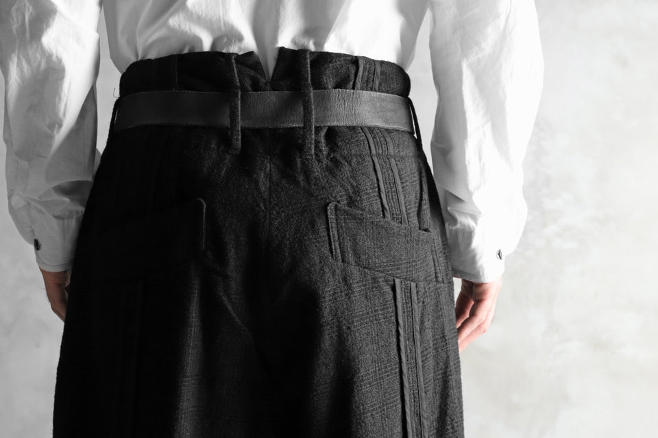 画像をギャラリービューアに読み込む, KLASICA DARK CHECK SABRON WIDE TROUSERS / WASH OUT MIX WEAVE (DARK CHECK)