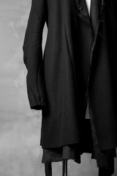 画像をギャラリービューアに読み込む, LEON EMANUEL BLANCK exclusive DISTORTION MEDIUM ROBE / HAIRY ALPACA & HEMP (BLACK)