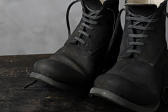"Load image into Gallery viewer, prtl ""one make"" Lace Up Boots (JAPAN Cow Reversed Leather / Hand Dyed BLACK)"