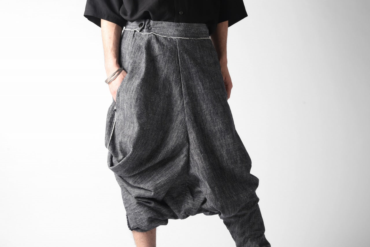 un-namable exclusive Metaboly Ultra Wide Pants / Blur Fabric (GREY)