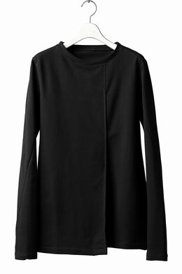 incarnation TUCK FRONT LONG SLEEVE JERSEY TOPS / ELASTIC F.TERRY (BLACK)