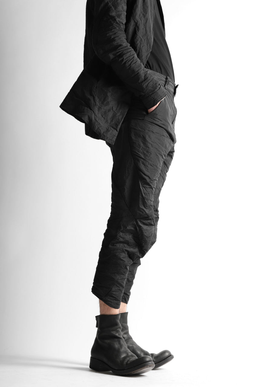 画像をギャラリービューアに読み込む, LEON EMANUEL BLANCK FORCED 6 POCKET CROPPED PANTS / SHAPE MEMORY METAL (BLACK)