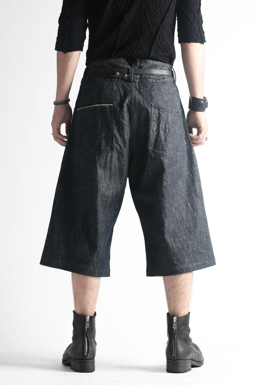 "daska x LOOM excluive ""w"" wide short trousers #white stitch"