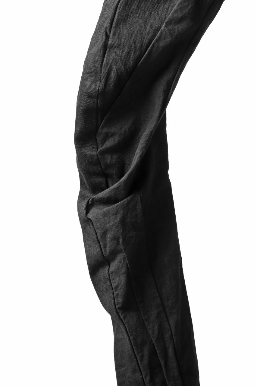 A.F ARTEFACT FITTED STRETCH LONG PANTS / COMBI FABRIC (BLACK)