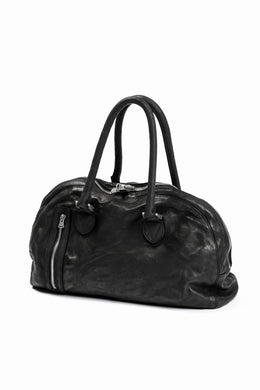 ISAMU KATAYAMA BACKLASH GYM BAG / Italy Shoulder + Steer OBJECT DYED (BLACK)