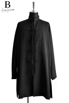 Load image into Gallery viewer, B Yohji Yamamoto B/CHINAKNOT GABARDINE COAT (BLACK)