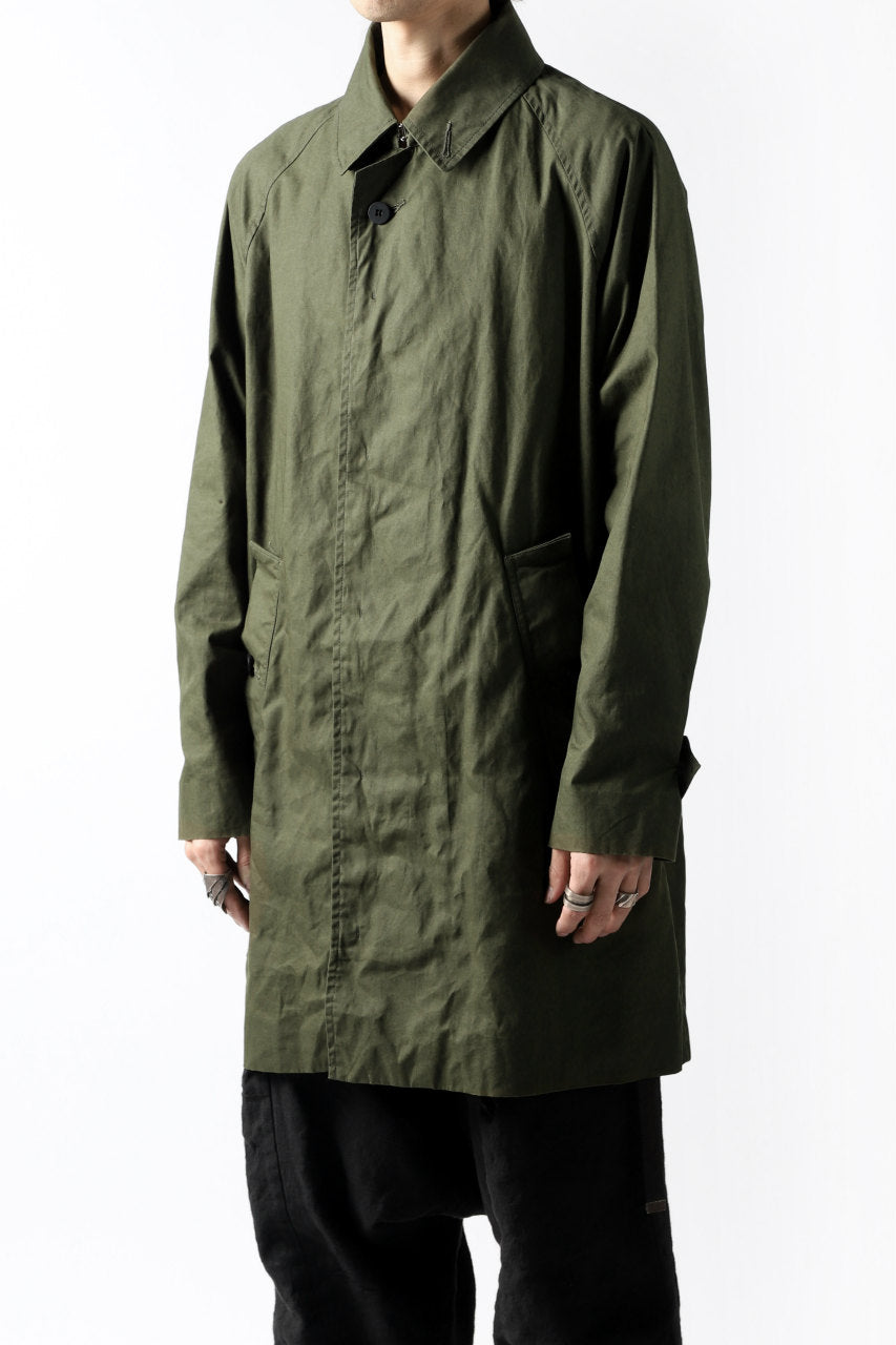 KLASICA BURRY MAC COAT / PARAFFINED COTTON (OLIVE)