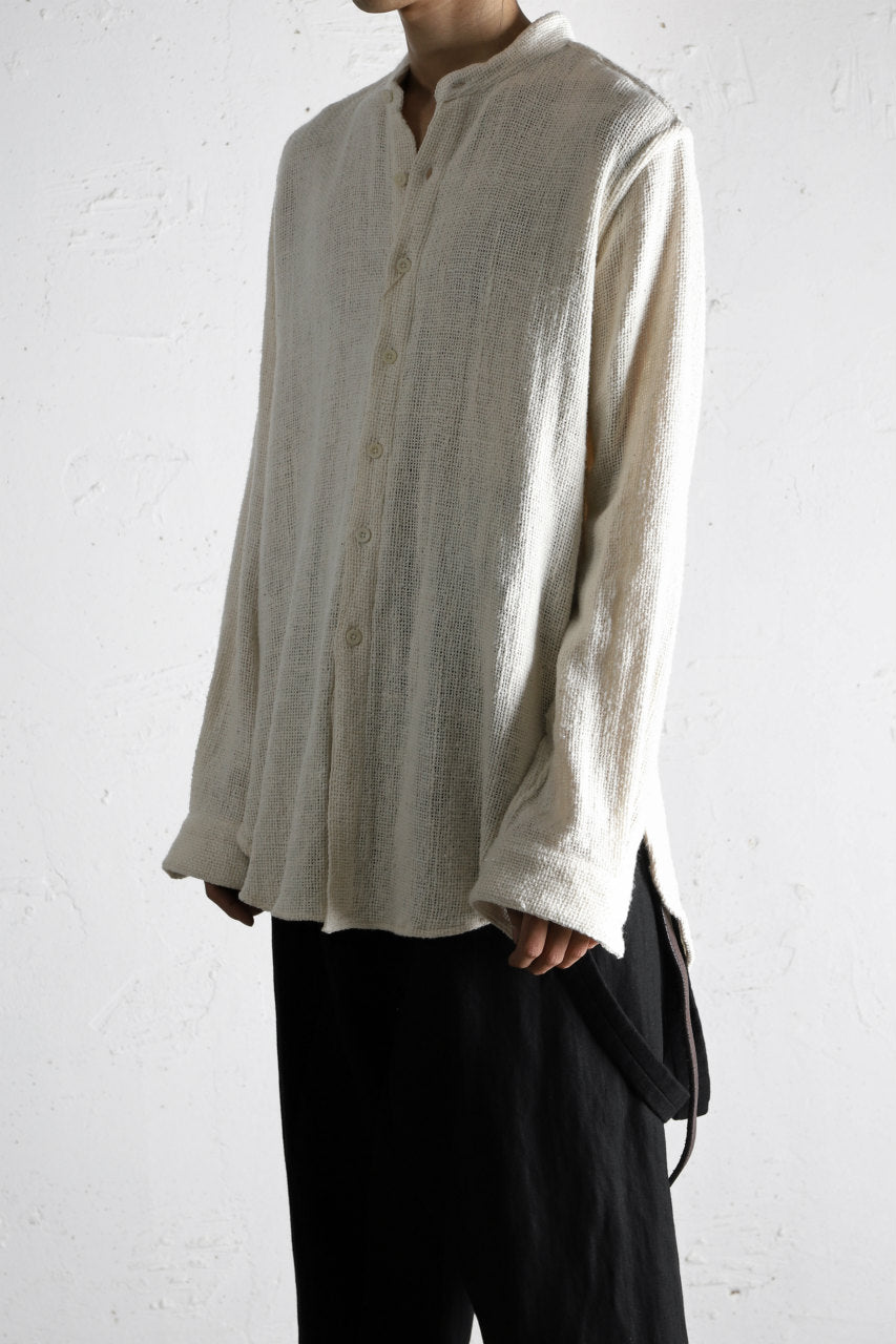 Load image into Gallery viewer, COLINA GRANPA SHIRT / HANDSPAN ORGANIC COTTON (WHITE)