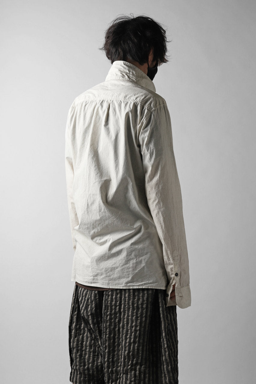 RUNDHOLZ DIP REGULAR COLLAR SHIRT / DYED C-CLOTH (MARBLE)