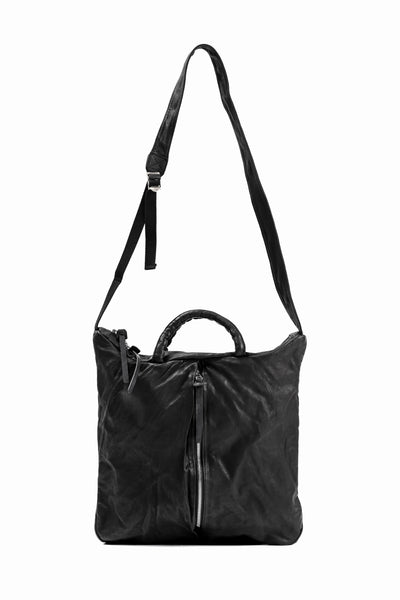 ISAMU KATAYAMA BACKLASH 2WAY BELTED BAG / Italy Shoulder 0.8 OBJECT DYED (BLACK)