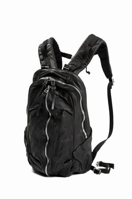 ISAMU KATAYAMA BACKLASH FUNCTIONAL BACKPACK / Italy Shoulder 0.8 OBJECT DYED (BLACK)