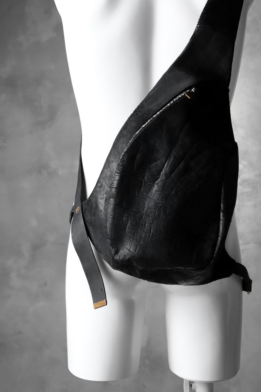 ierib exclusive One Shoulder Bag / horsebutt + nicolas italy vachetta (BLACK)
