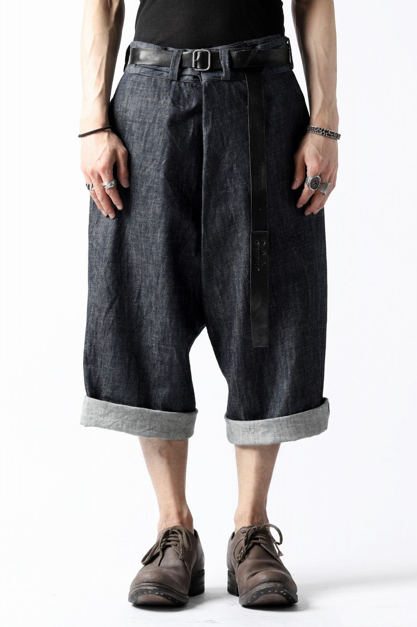 daska wrap cropped pants / belgium denim (INDIGO)