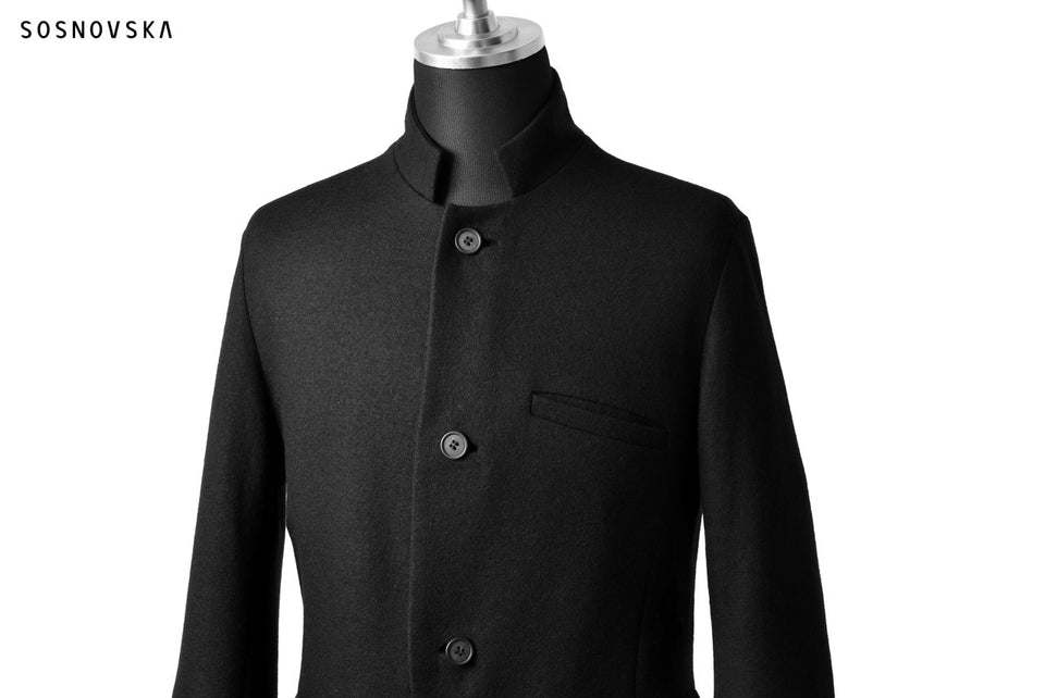 Load image into Gallery viewer, SOSNOVSKA DOUBLE WOOL JERSEY JACKET (BLACK)
