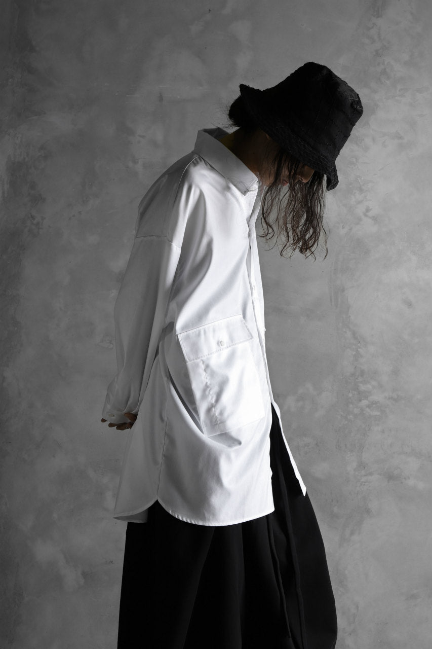 Load image into Gallery viewer, JOE CHIA FLAP POCKET WORK SHIRT (OFF WHITE)