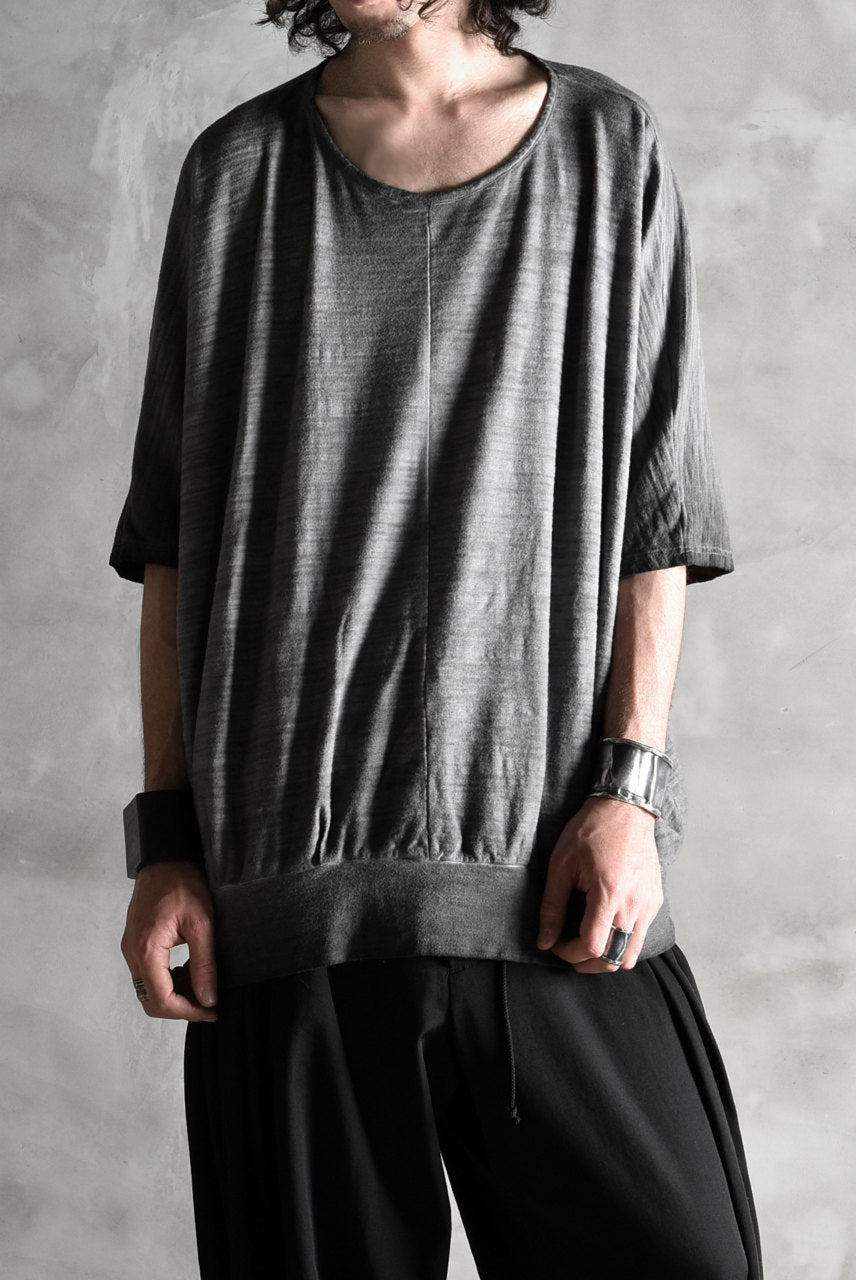 Load image into Gallery viewer, N/07 exclusive OVERFIT DOLMAN TEE / SLAB JERSEY REVERSE-COLD DYE (INK BLACK)