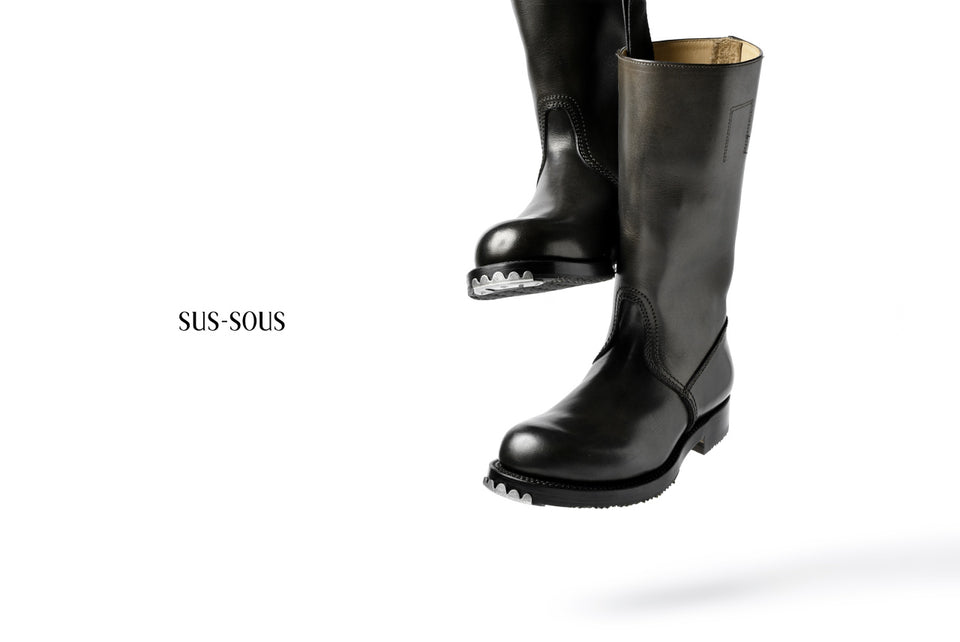 Load image into Gallery viewer, sus-sous jack boots / TEMPESTI *hand dyed (BLACK BROWN)
