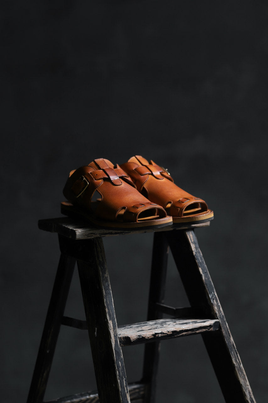 sus-sous sandal shoes / italy oiled cow leather *hand dyed (NATURAL)