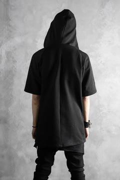 画像をギャラリービューアに読み込む, incarnation RAGLAN HOODED TOPS / HIGH STRETCH COTTON (BLACK)