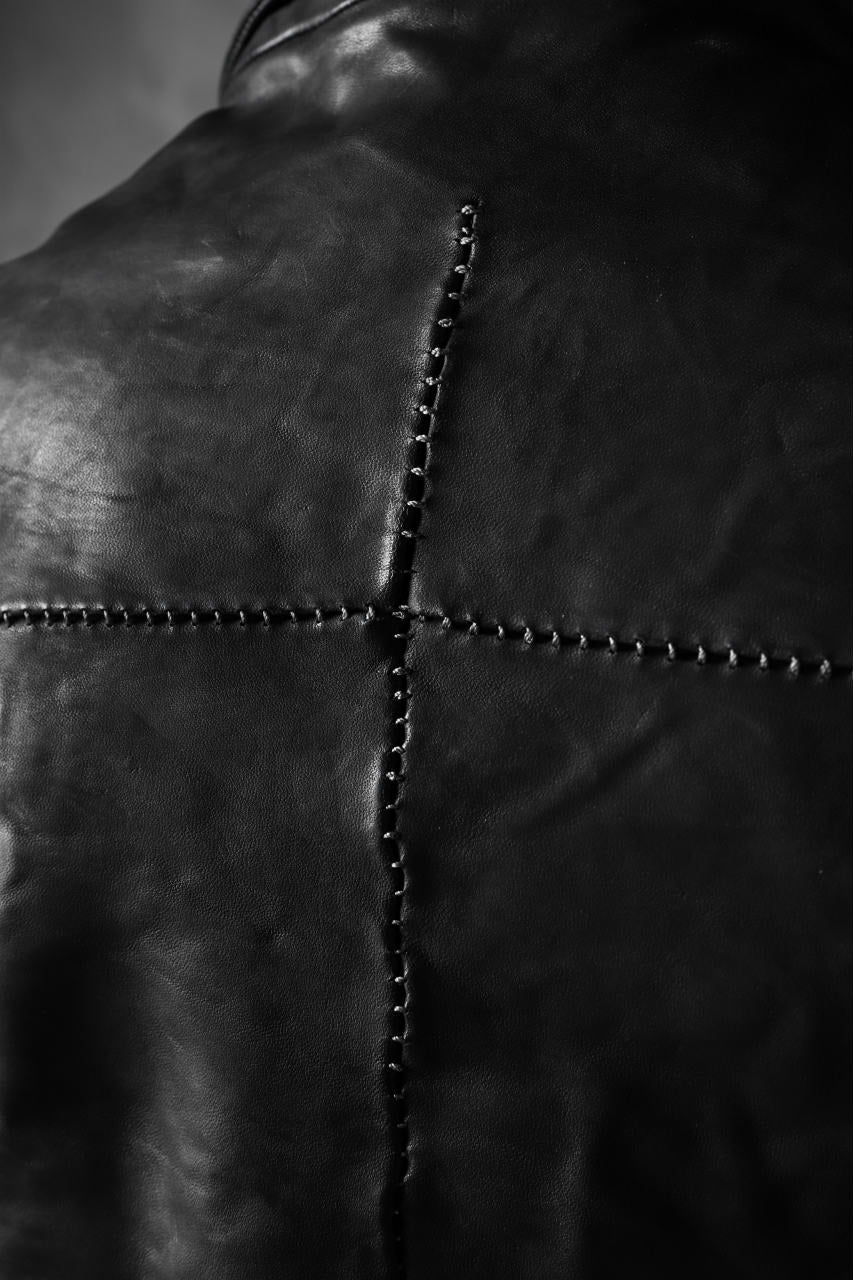 画像をギャラリービューアに読み込む, incarnation exclusive DOUBLE BREAST JACKET OBJECT DYE/TANNED HORSE (BLACK)