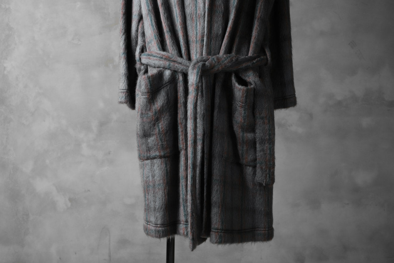 A.F ARTEFACT exclusive WARM GOWN COAT / SHAGGY SMOOTH KNIT