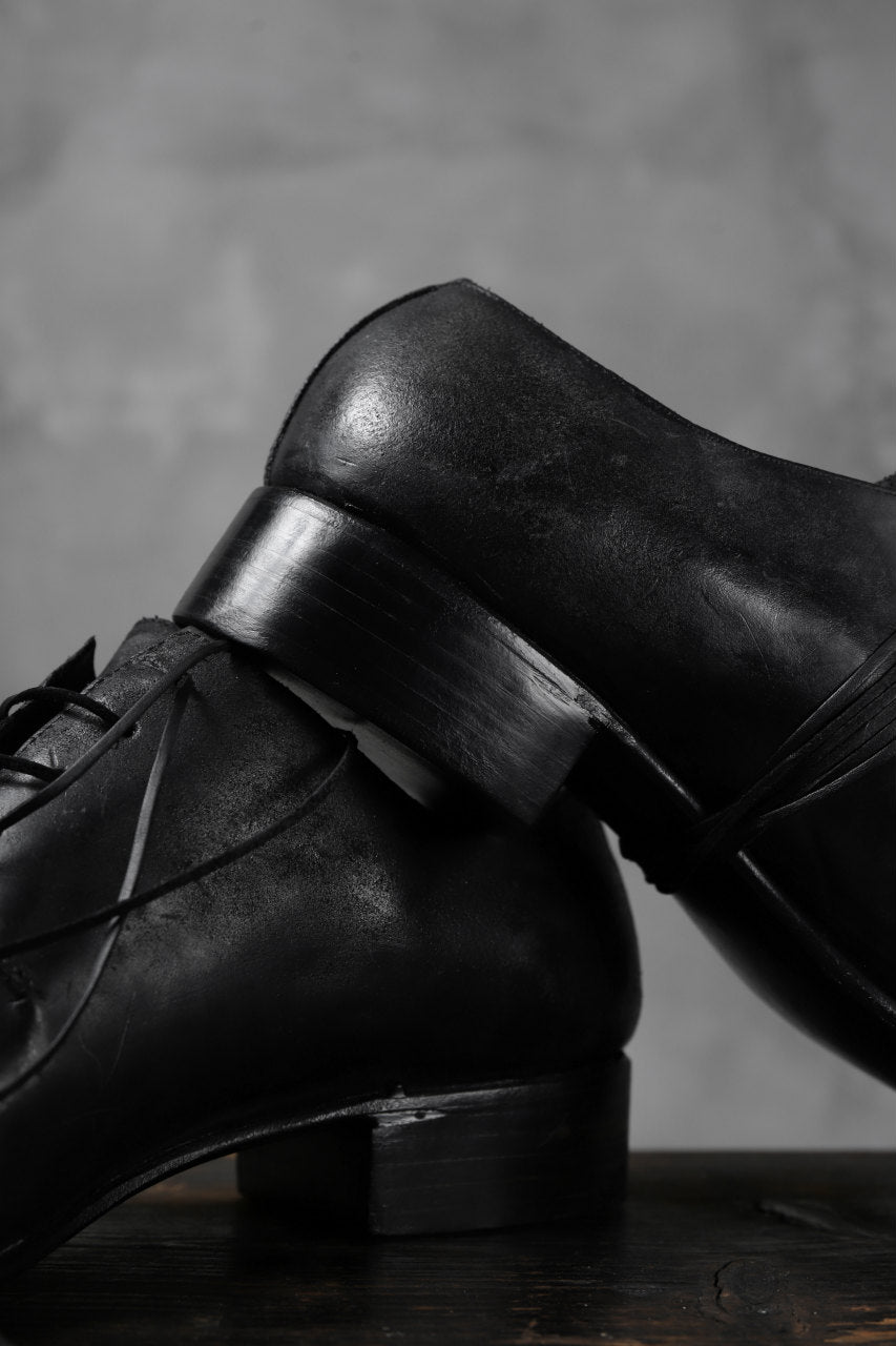 DIMISSIANOS & MILLER derby whole-cut with extended tongue shoes / culatta leather (BLACK)
