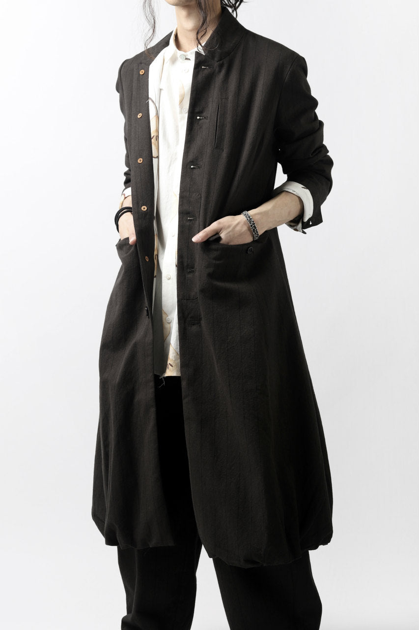 Aleksandr Manamis Balloon Long Jacket / Brown Stripe