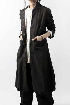 画像をギャラリービューアに読み込む, Aleksandr Manamis Balloon Long Jacket / Brown Stripe