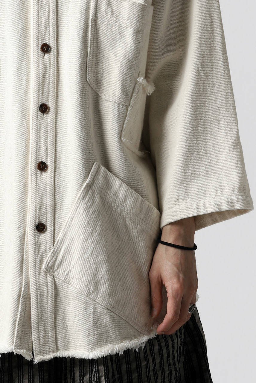 画像をギャラリービューアに読み込む, A.F ARTEFACT exclusive ENGINEER SHIRT-JKT / LOW COUNT DENIM (IVORY)