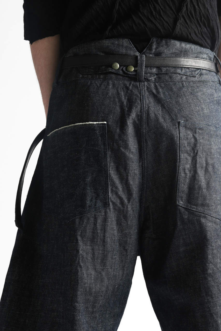 "Load image into Gallery viewer, daska x LOOM excluive ""w"" wide short trousers #black stitch"