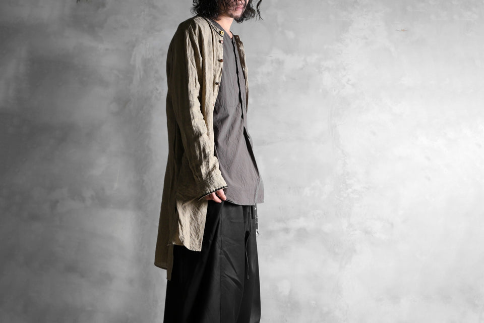画像をギャラリービューアに読み込む, KLASICA SABRON HALF BUTTON PULLOVER SHIRT / TYPE-WRITER CLOTH (MOSS)