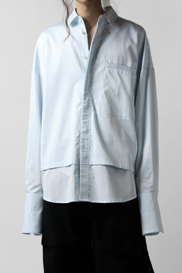 JOE CHIA DOUBLE LAYERED SHIRT (BABY BLUE)