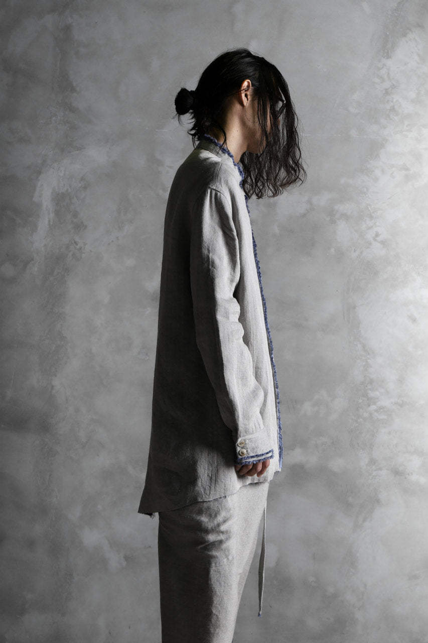 画像をギャラリービューアに読み込む, SOSNOVSKA exclusive RELICTA EDGES SHIRT (BEIGE×BLUE)