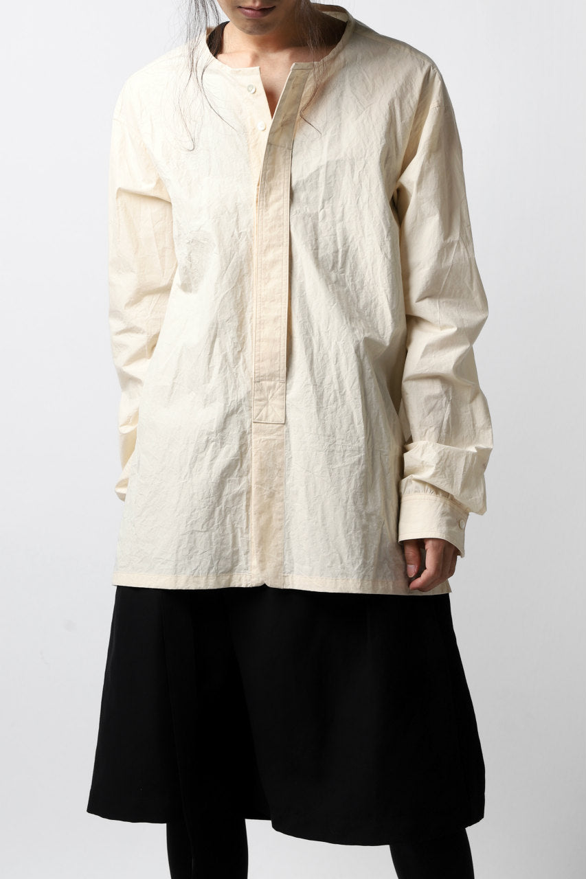 画像をギャラリービューアに読み込む, The Viridi-anne NO COLLAR RELAXED SHIRT / TYPE WRITER CLOTH