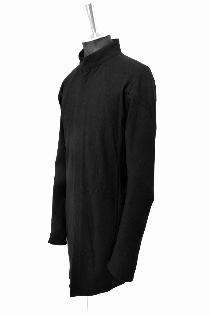 "N/07 amundsen wool middle shirt "" munditiei "" (BLACK)"