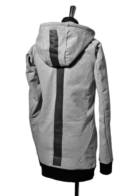 N/07 RUBBERIZED HOODIE JACKET / HYPER STRETCH SWEAT (GREY)