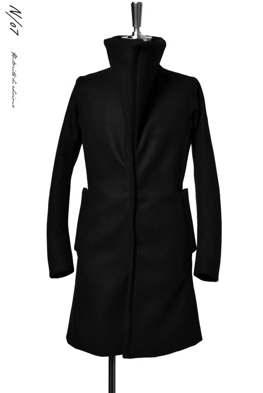 Load image into Gallery viewer, N/07 ANATOMY HIGHNECK COAT / PREMIUM WOOLYARN CASHMERE (BLACK)