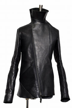 画像をギャラリービューアに読み込む, LEON EMANUEL BLANCK DISTORTION LEATHER JACKET / GUIDI CALF (BLACK)