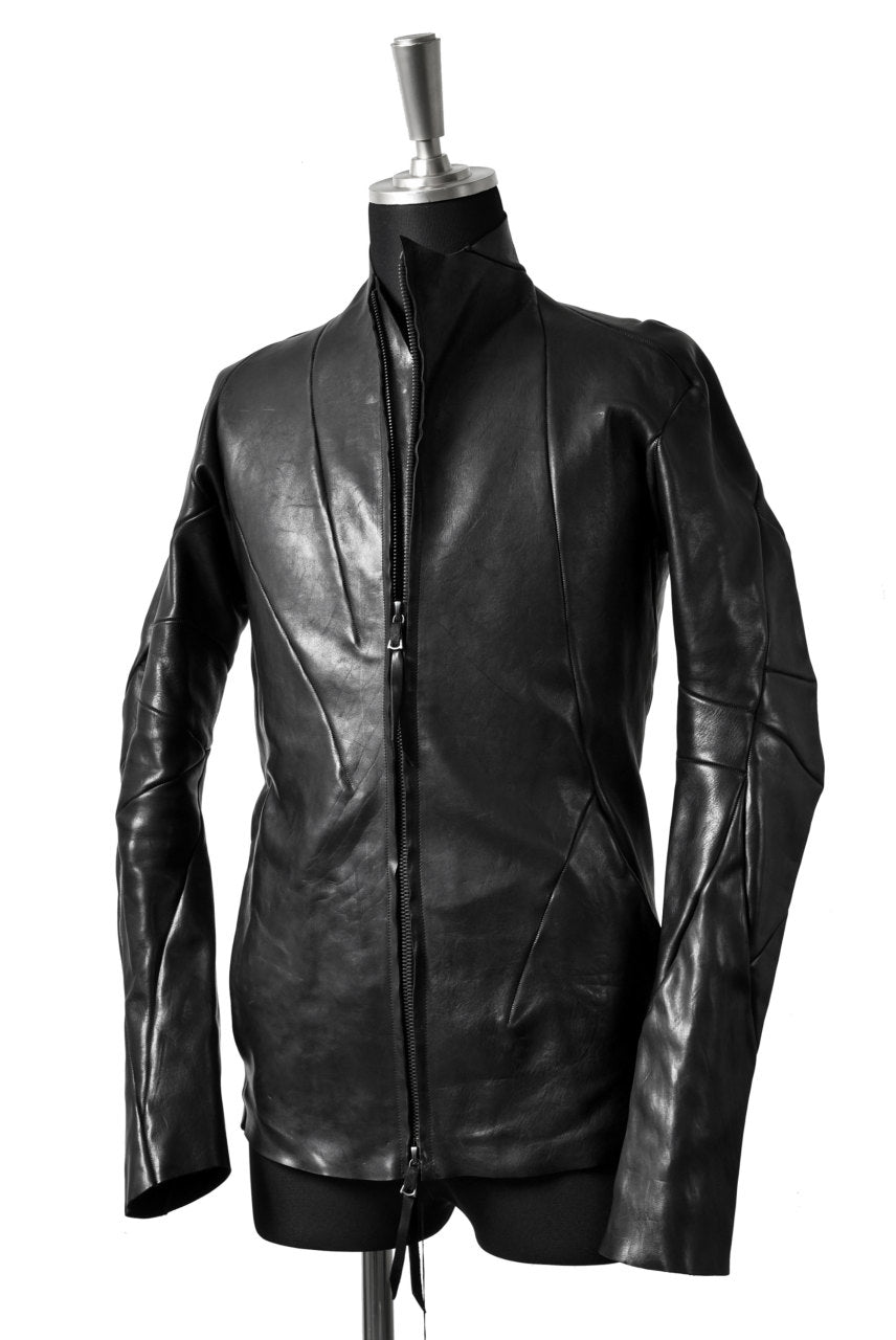 LEON EMANUEL BLANCK DISTORTION AVIATOR LEATHER JACKET / GUIDI OILED HORSE (BLACK)